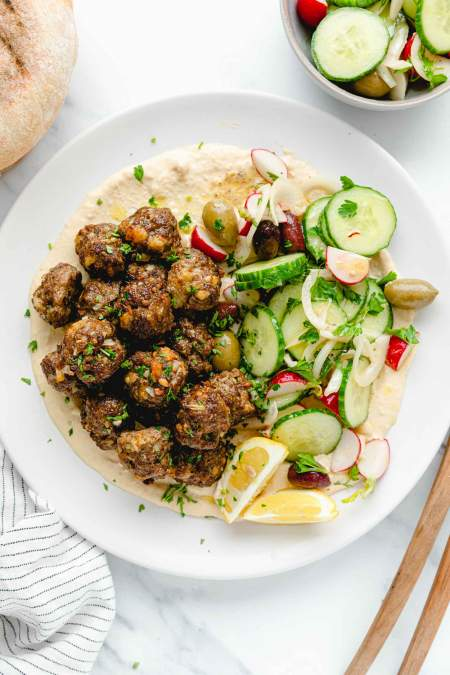 Easy Mini Oven Baked Meatballs