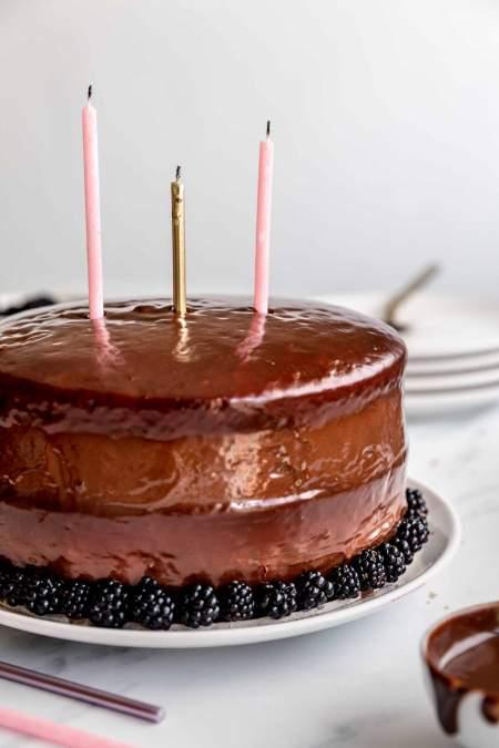 Blackberry Nutella Cake
