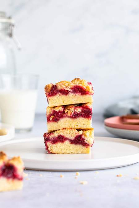Raspberry Crumble Bars (so good!)