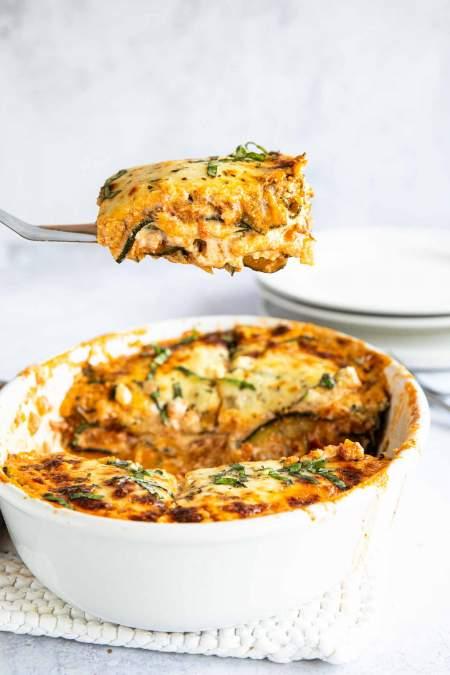 Zucchini Lasagna with Ground Beef (Keto-friendly)