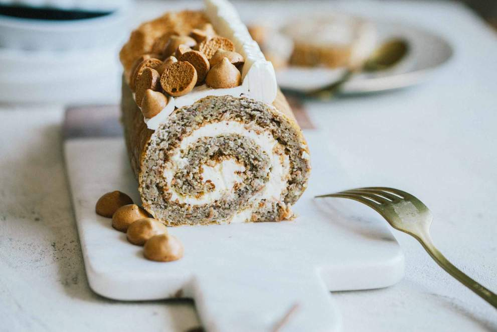 Flourless Carrot Roulade with Sour Cream