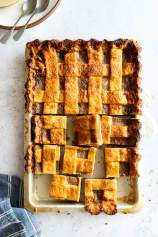 Blueberry Pear Slab Pie (Lattice Crusted)