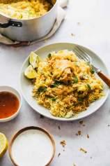 Piščančji Biryani (piščančji curry z rižem)