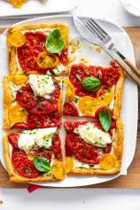 Puff Pastry Tomato Tart with Mozzarella