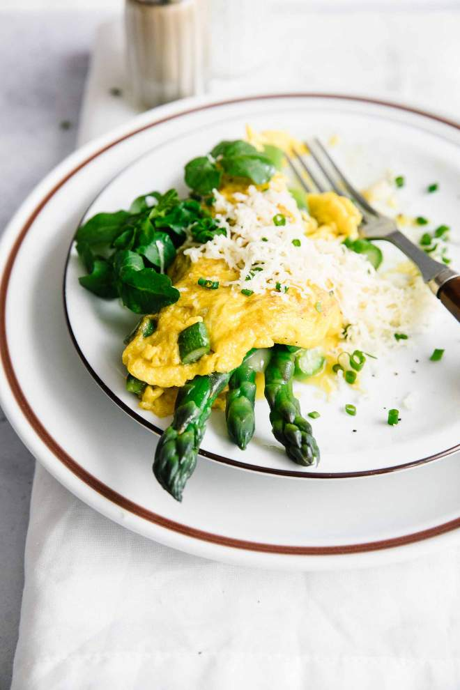 Asparagus Omelette with Cheese
