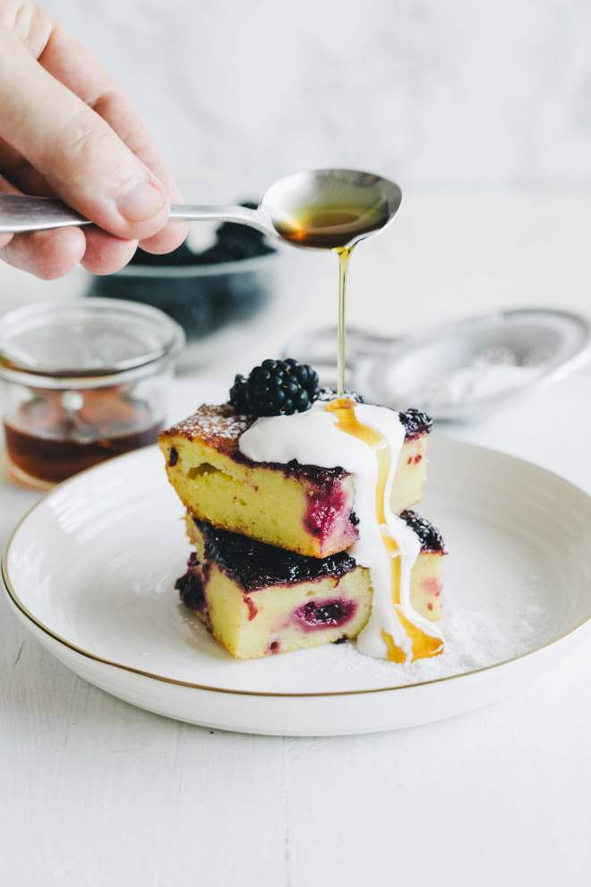 Blackberry Ricotta and Olive Oil Bars
