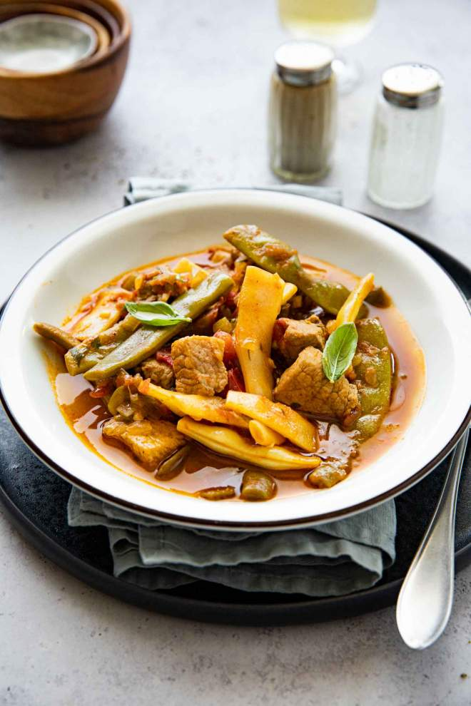 Pork Stew with String Beans