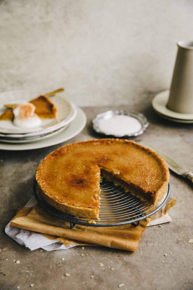 Bučna pita s karamelno skorjo