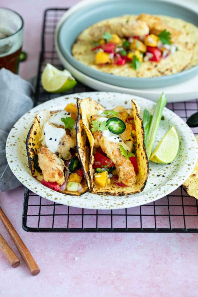 Best Cod Fish Tacos with Homemade Salsa