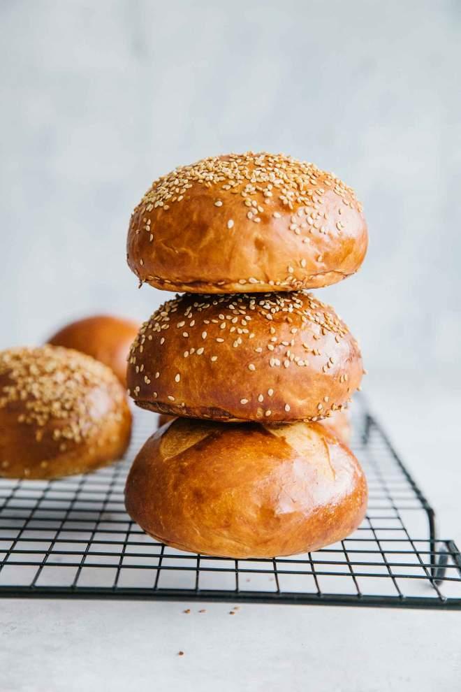 Homemade Burger Brioche Buns