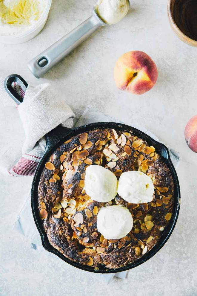 Peach Cobbler with Rosemary and Almonds by Jernej Kitchen