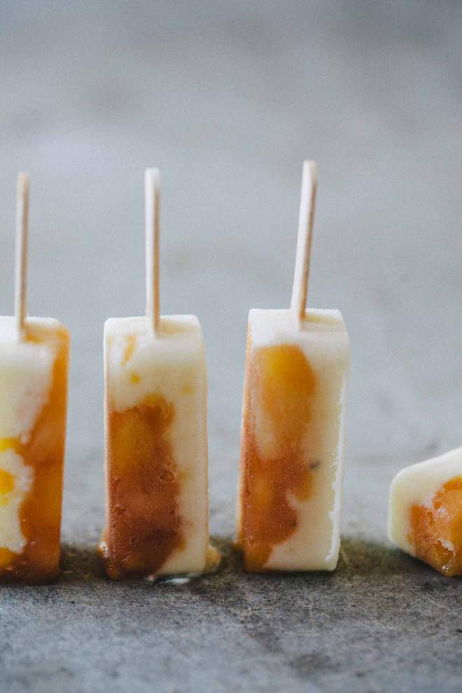 Pineapple and Yogurt Popsicles