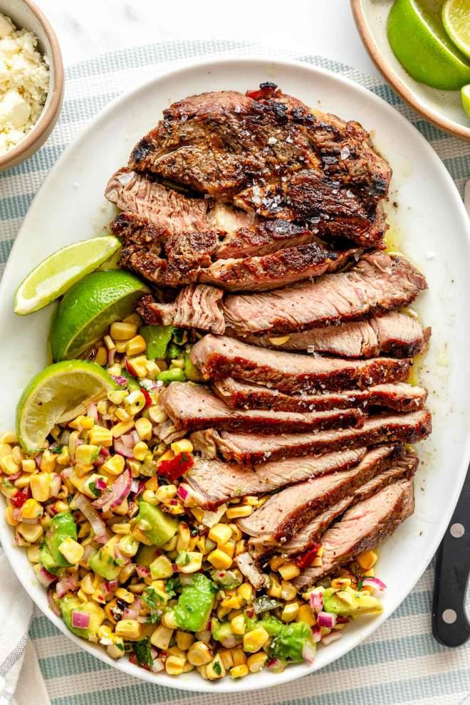 Grilled Ribeye Steak with Corn Salsa