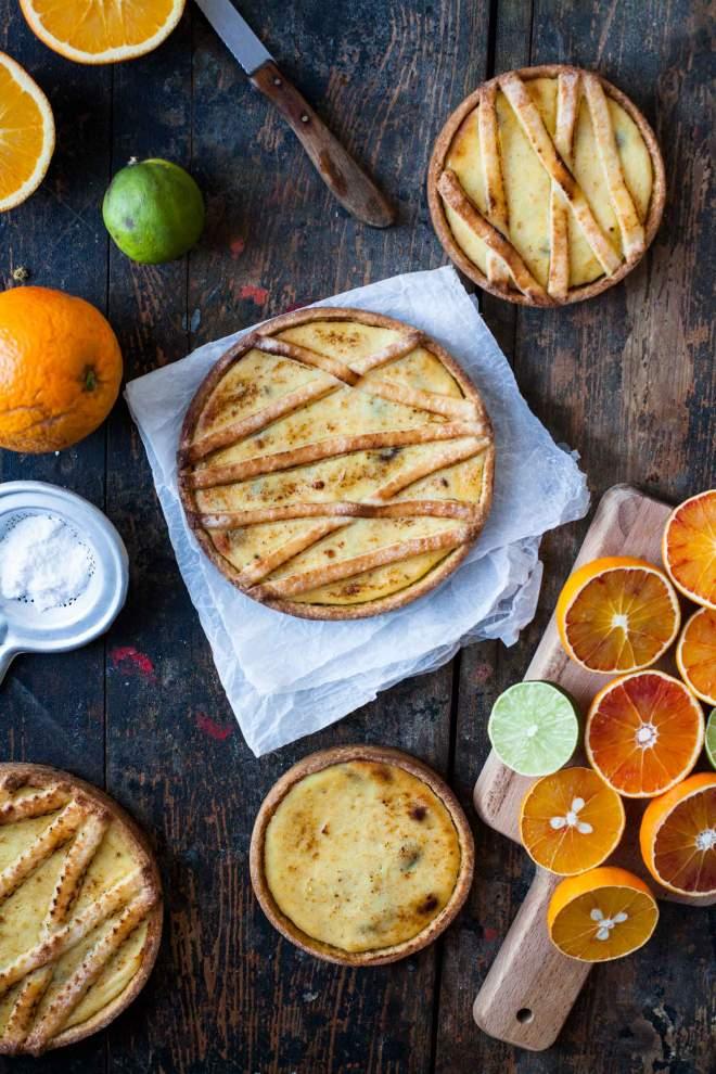 Pečena Pita z rikoto, pomarančami in čokolado