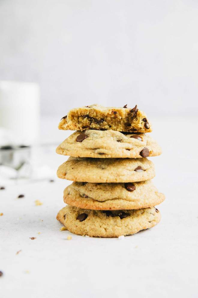 Whole Wheat Soft Chewy Chocolate Chip Cookies