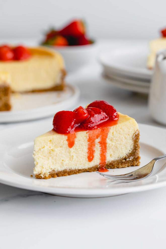 Strawberry Pretzel Cheesecake