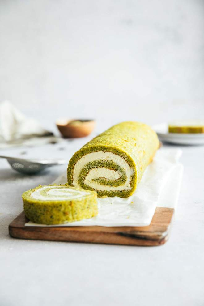 Gluten Free Swiss Roll with Pumpkin Seeds