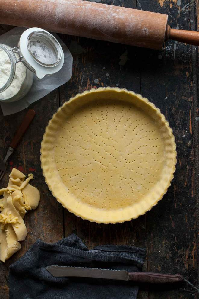 Homemade tart dough, tart crust