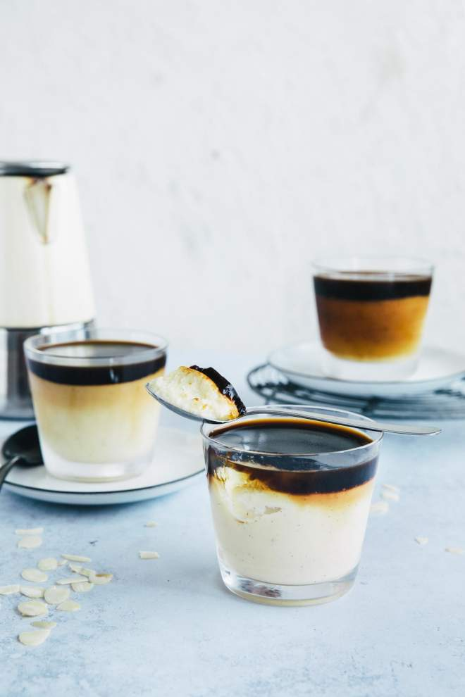 Vanilla Pudding with Coffee Surprise