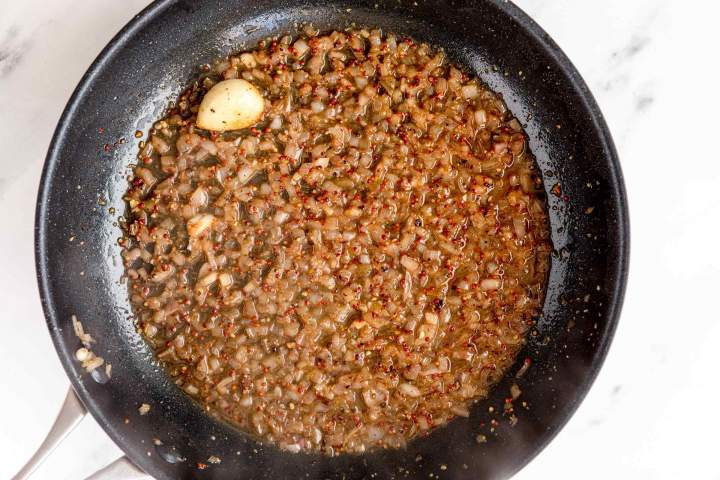 Peppercorn Sauce in the making