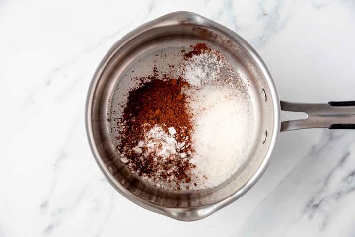 Suhe sestavine za Čokoladni puding