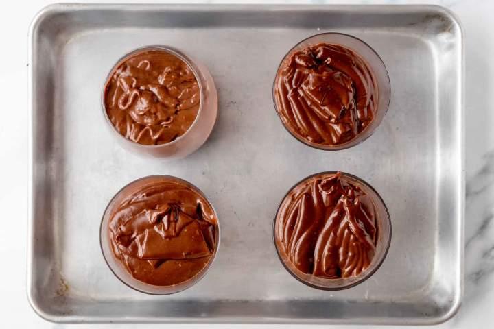 homemade, creamy, dark chocolate pudding recipe