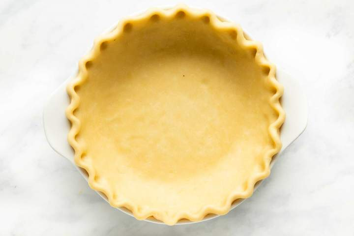 Homemade buttery pie crust