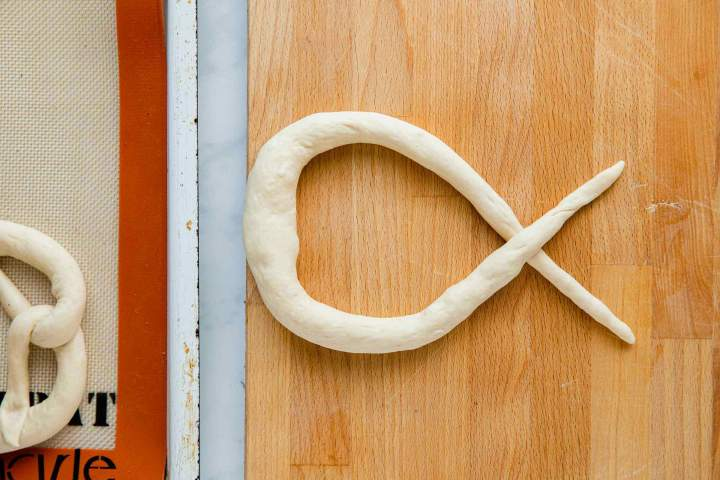 Shaping Bavarian Pretzels