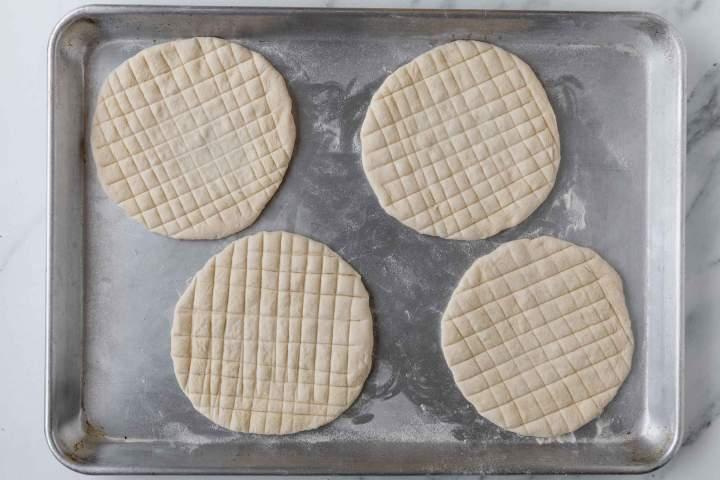 Lepinja before baking