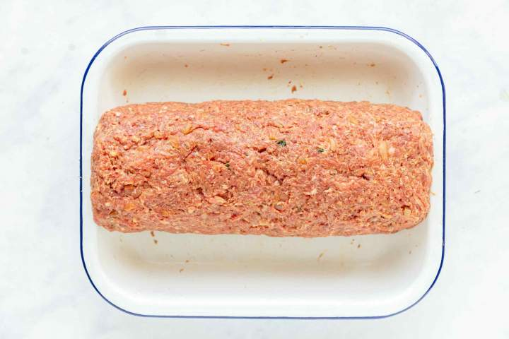 Meatloaf before roasting