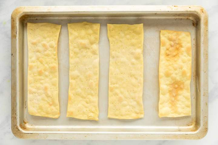 Baked Mlinci or Baked Noodles
