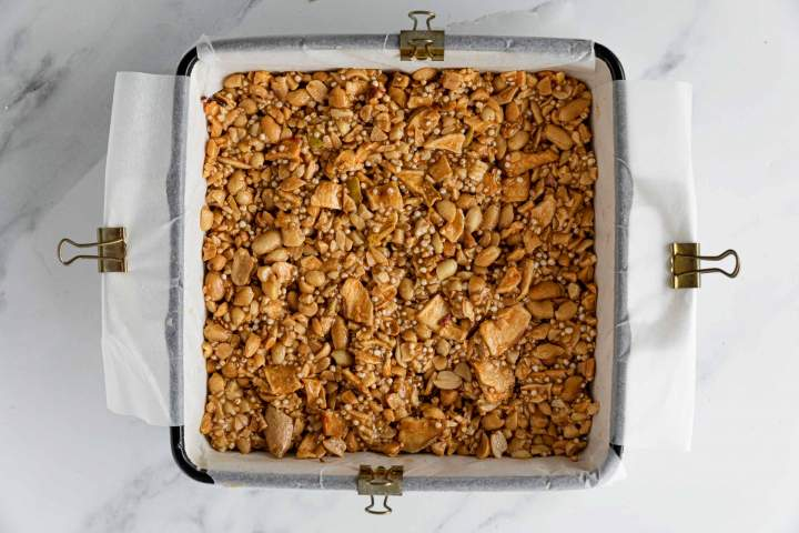 Peanut Butter Nut Clusters before baking
