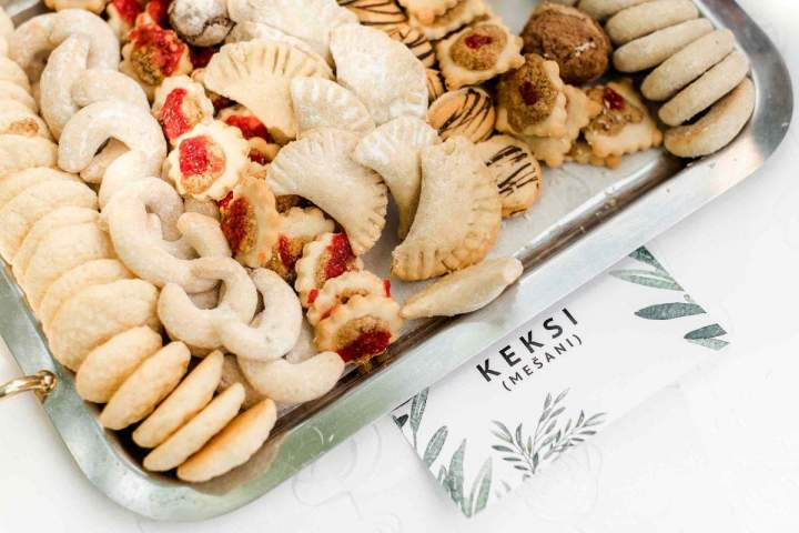 Our intimate spring wedding cookies by jernejkitchen.com