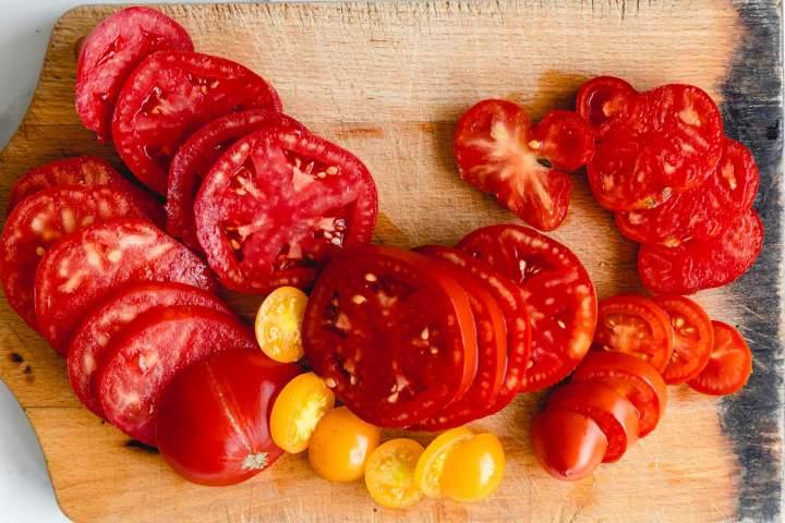 fresh tomatoes for Whipped Ricotta Tomato Toast