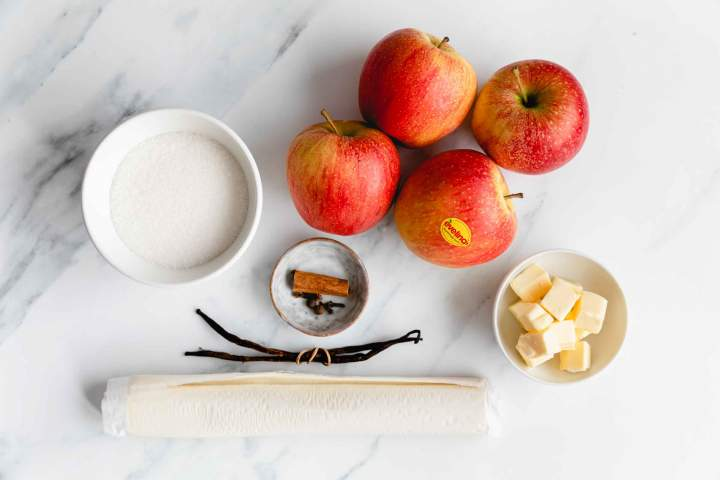 Ingredients for Spiced Apple Tarte Tatin