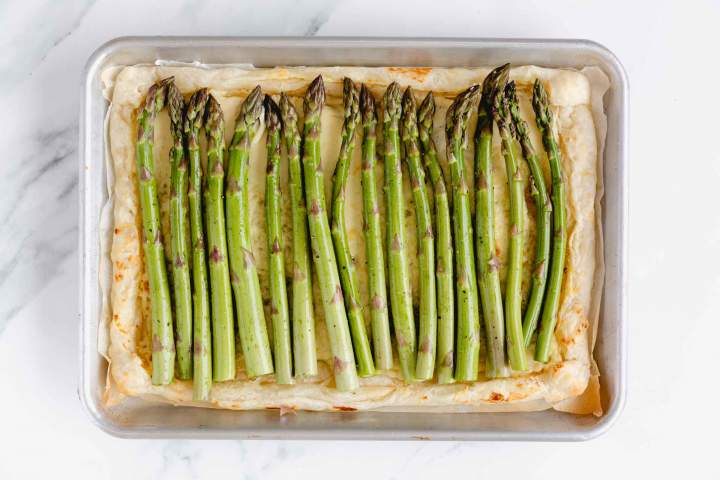 Asparagus Tart with Cream Cheese before baking