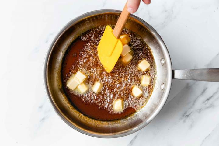 Make the caramel for Spiced Apple Tarte Tatin