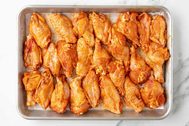 Making Smoked Paprika Chicken Wings at home - before baking