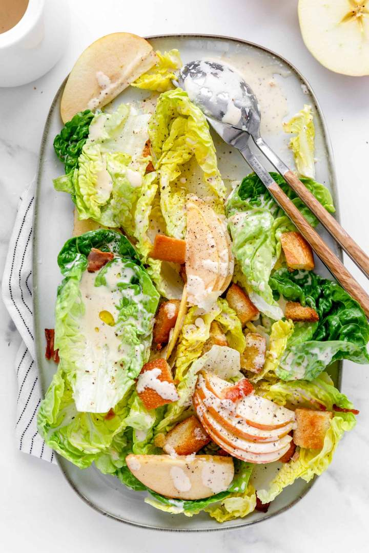 Bacon Caesar Salad with Apples