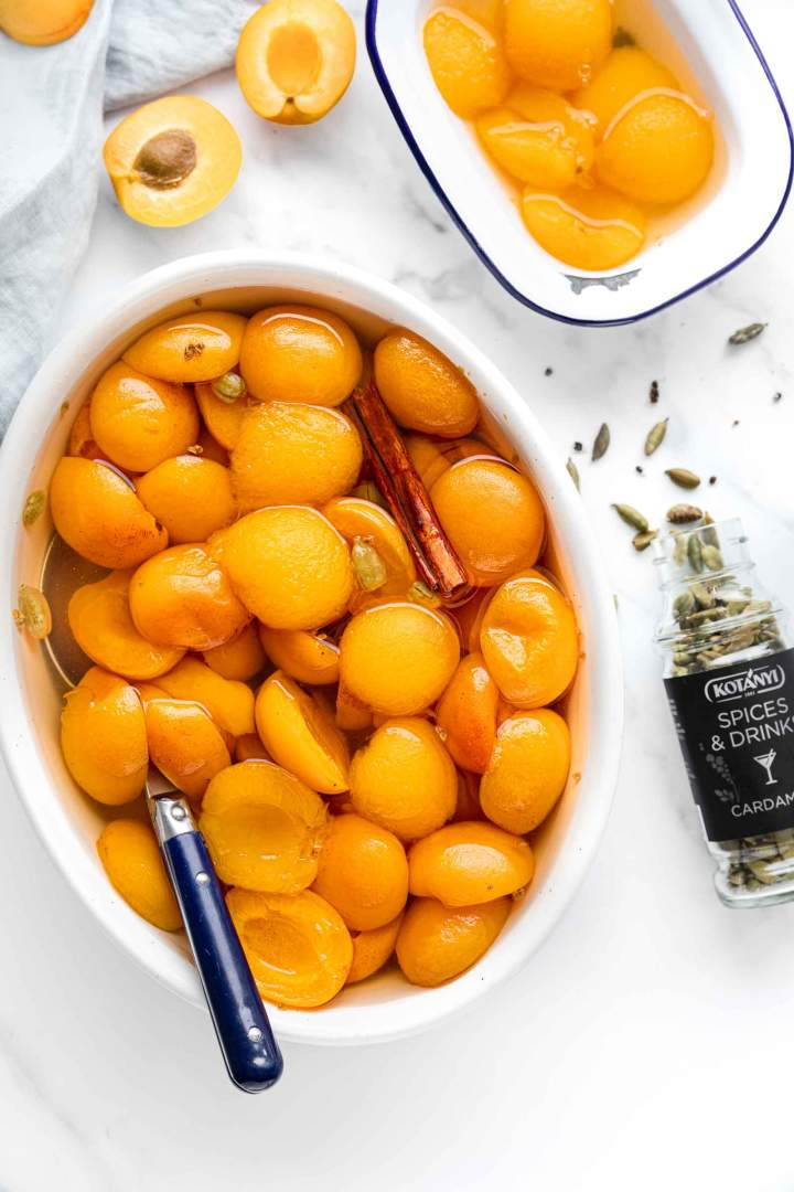 Apricot Compote with Cardamom