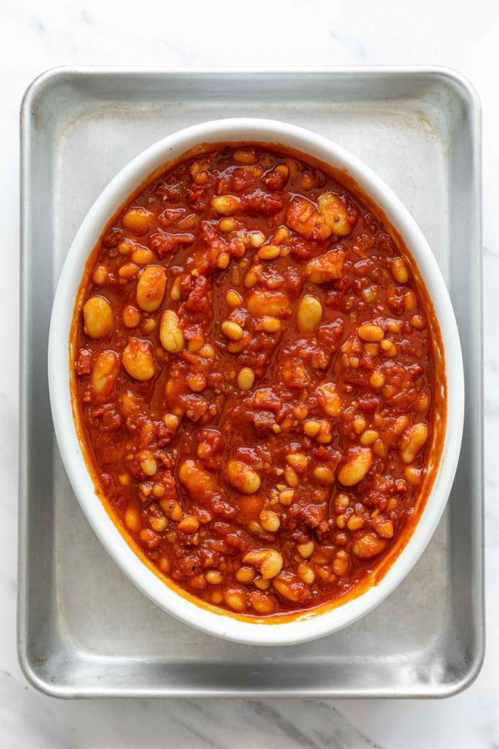 Baked Beans from Scratch before baking