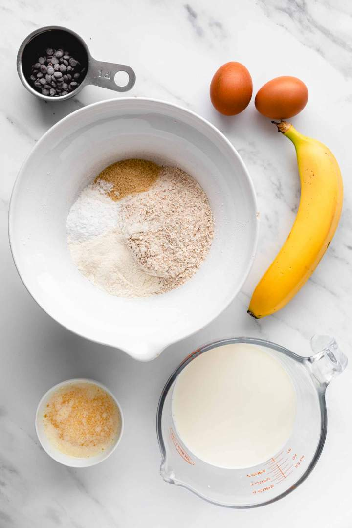 Sestavine za bananine palačinke
