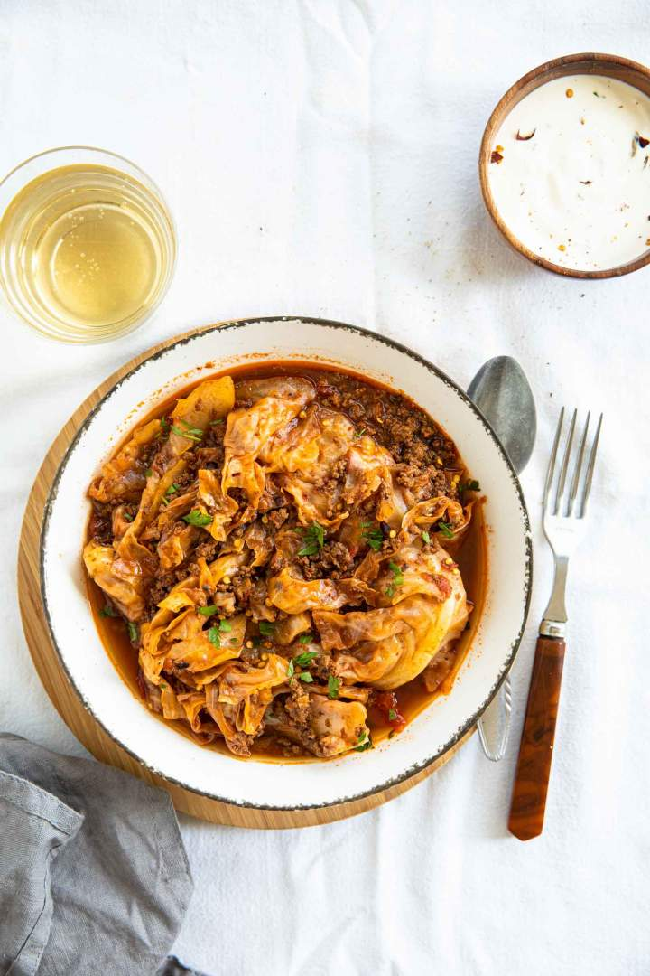 ground beef and cabbage stew recipe