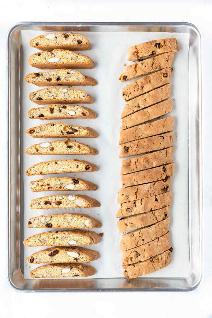 Baked Biscotti with Raisins and Nuts