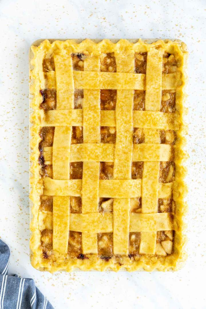 Blueberry Pear Slab Pie - before baking