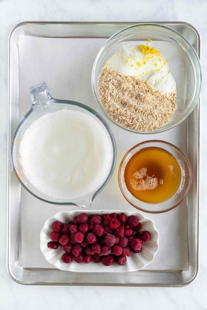 Brown Butter Cherry Muffins ingredients