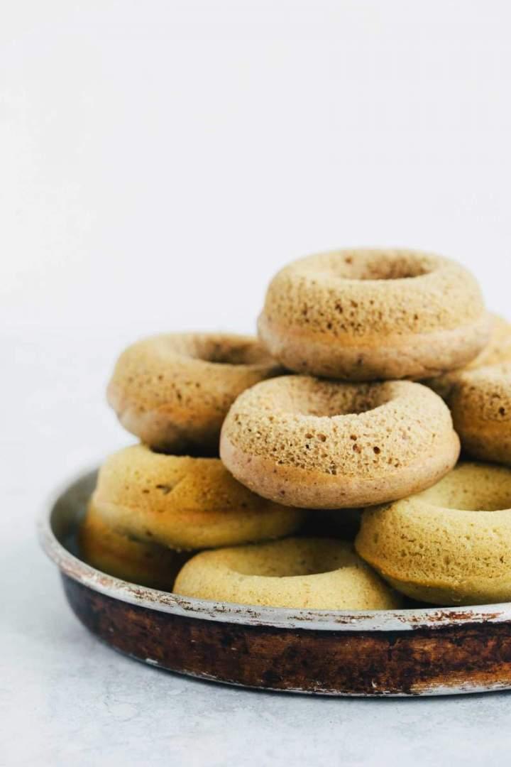 Chocolate Glazed Baked Chestnut Doughnuts