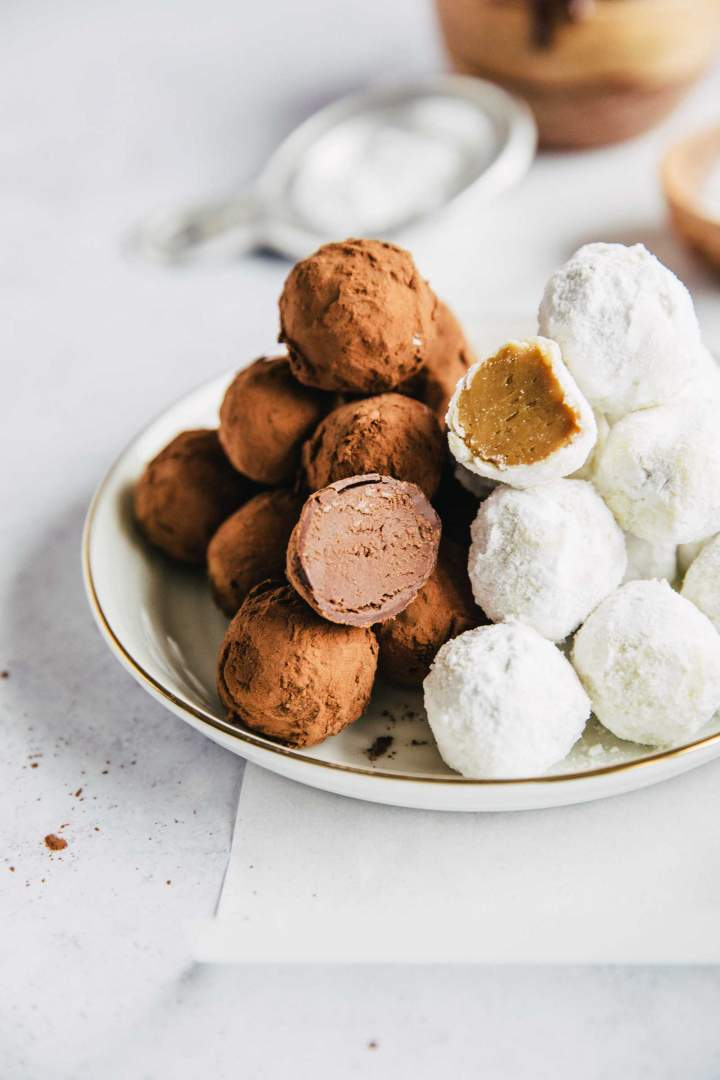 Chocolate truffles Two Ways