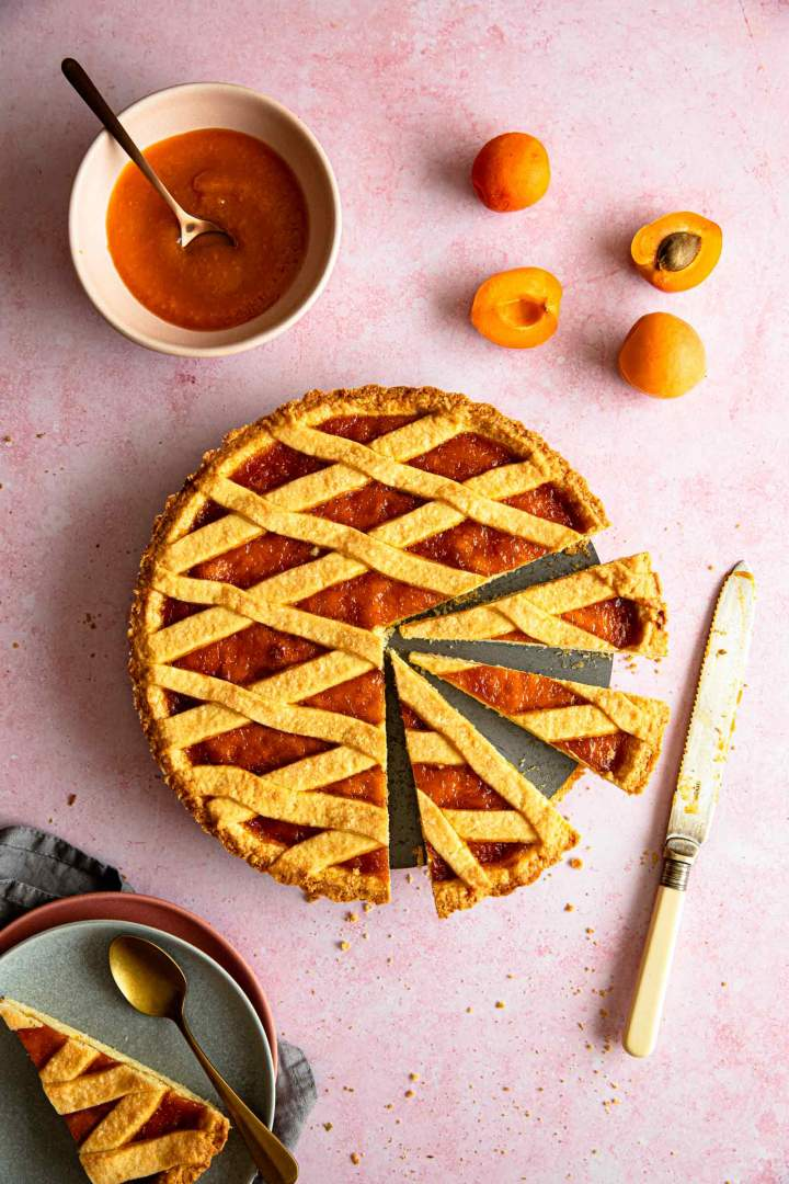 Rustic Italian Apricot Crostata