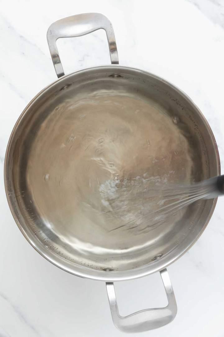 Priprava vrtinca za poširana jajca